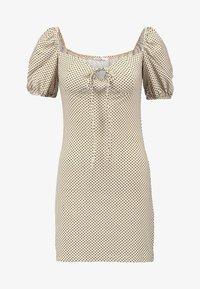Glamorous Petite - Shift dress - beige/black - 3