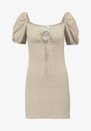 Pouzdrové šaty - beige/black