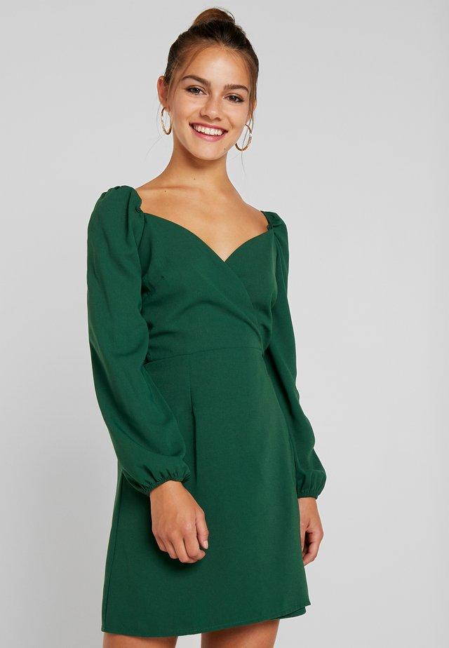 Korte jurk - dark green