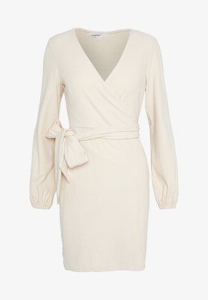 WRAP DRESS - Robe fourreau - stone