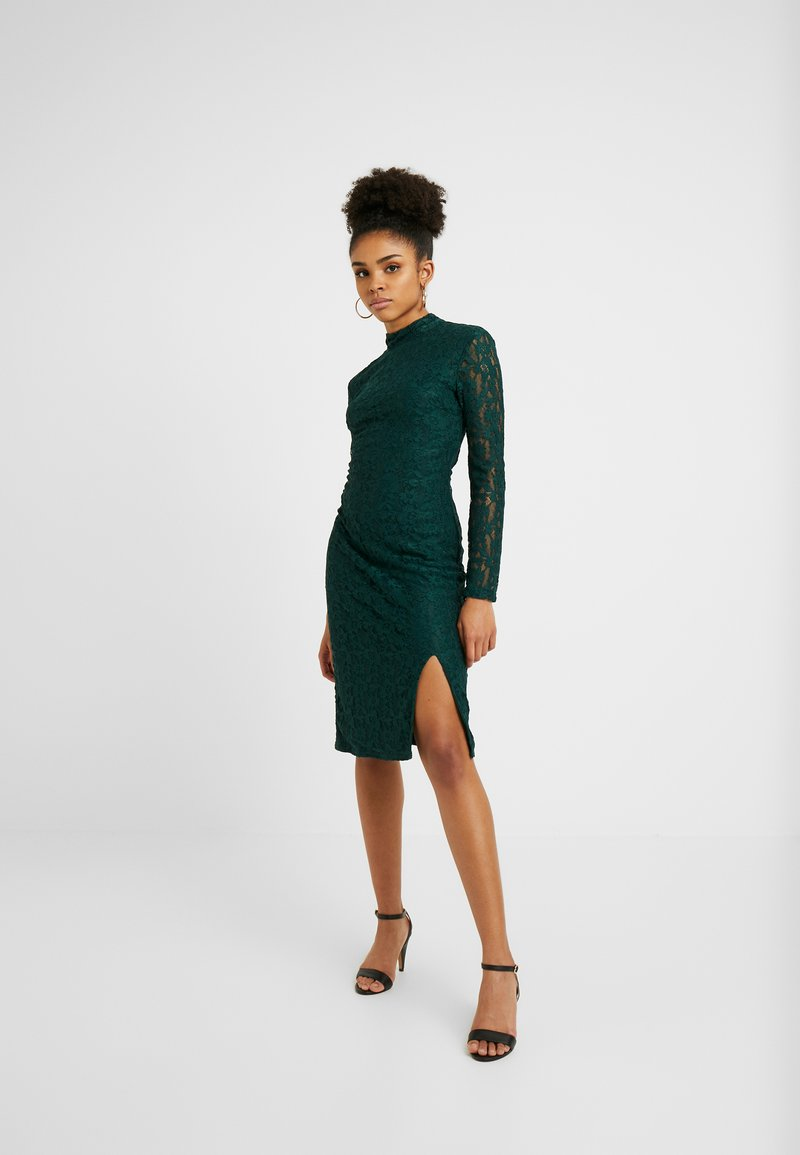 Glamorous Petite - OPEN BACK MIDI - Cocktailjurk - green