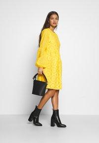 Glamorous Petite - BRODERIE DRESS - Day dress - yellow - 2