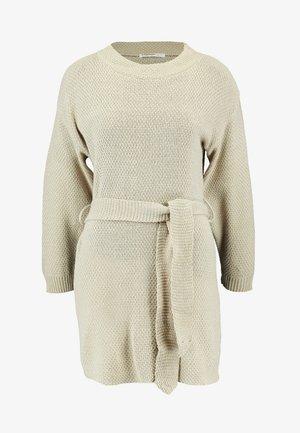 TIE WAIST DRESS - Vestido de punto - ecru