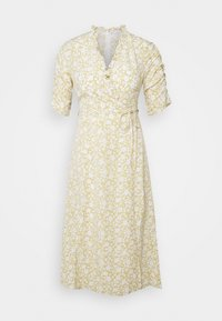 Glamorous Petite - DITSY MIDI WRAP DRESS PETITE - Day dress - beige - 0