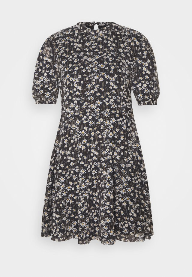 EXCLUSIVE PRINTED PUFF SLEEVE - Day dress - black