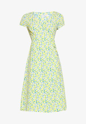 DITSY WRAP DRESS - Freizeitkleid - yellow