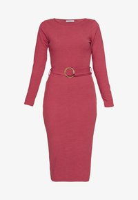 Glamorous Petite - BELTED MIDI - Jumper dress - pink - 3