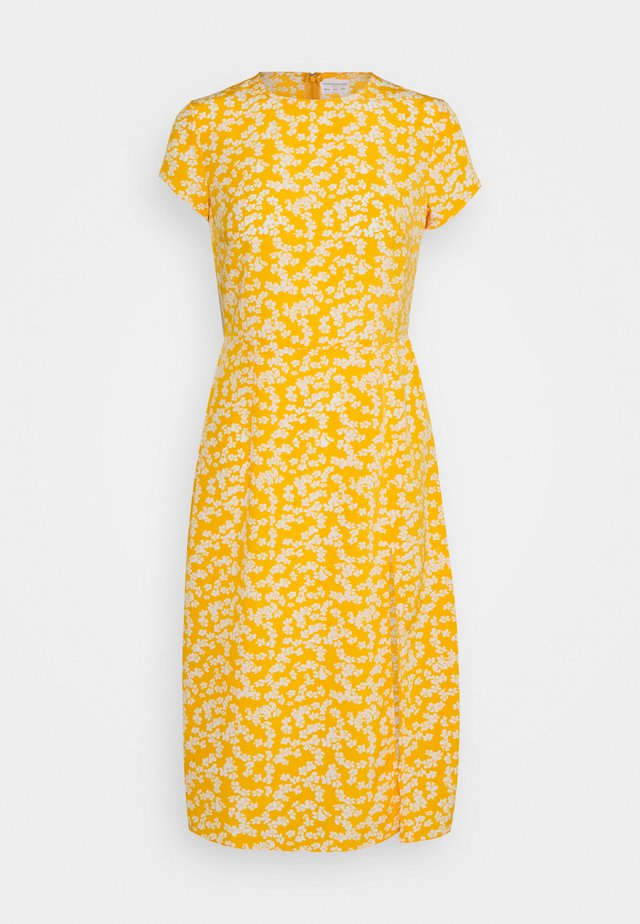 SUSTAINABLE MIDI TEA DRESS - Day dress - yellow