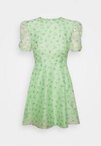 Glamorous Petite - PUFF SLEEVE SKATER DRESS - Day dress - green/watercolour - 0