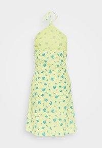 Glamorous Petite - HALTERNECK PRINT MINI DRESS - Day dress - yellow - 1