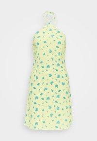 Glamorous Petite - HALTERNECK PRINT MINI DRESS - Day dress - yellow - 0