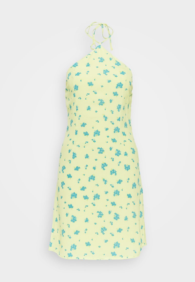 Glamorous Petite - HALTERNECK PRINT MINI DRESS - Day dress - yellow