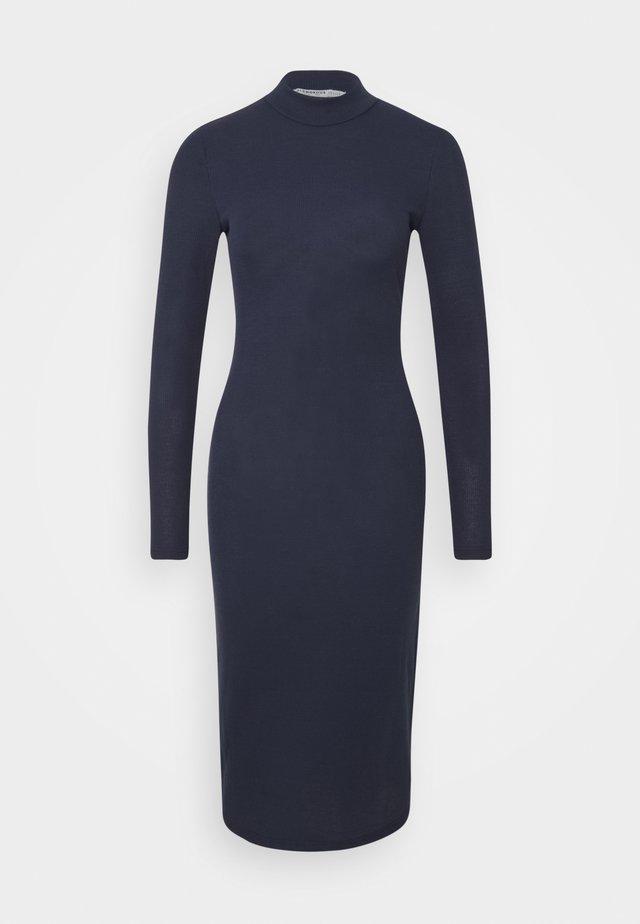 OPEN BACK BODYCON DRESS - Jumper dress - navy