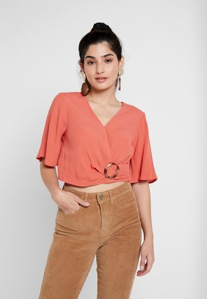 WRAP SLEEVE - Blouse - coral