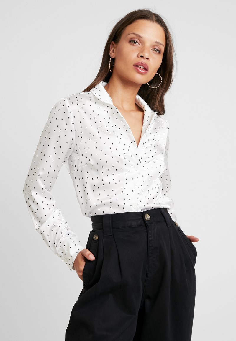 Glamorous Petite - Button-down blouse - white/black