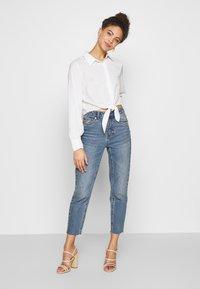 Glamorous Petite - TIE FRONT BLOUSE - Hemdbluse - white - 1