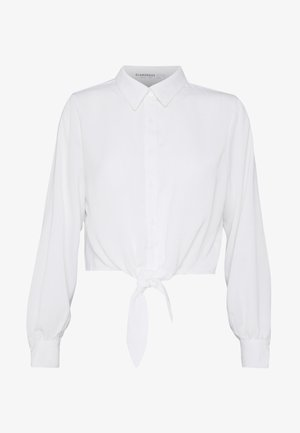 TIE FRONT BLOUSE - Overhemdblouse - white