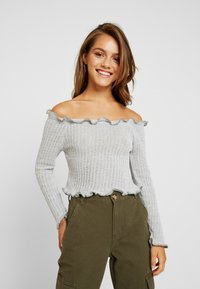 Glamorous Petite - EXCLUSIVE BARDOT - Strickpullover - light grey marl - 0