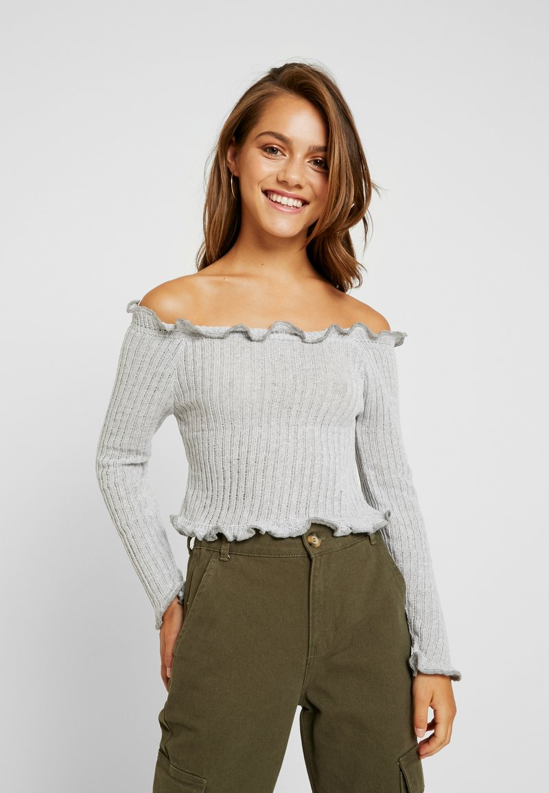 Glamorous Petite - EXCLUSIVE BARDOT - Strickpullover - light grey marl