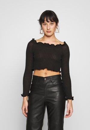 EXCLUSIVE BARDOT - Jersey de punto - black