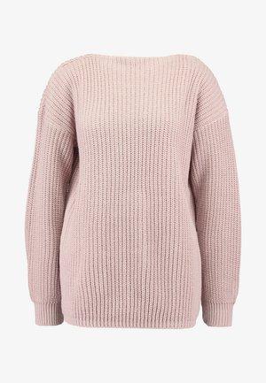 Strikkegenser - dusky pink
