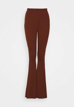 WIDE LEG TROUSERS - Bukse - brown