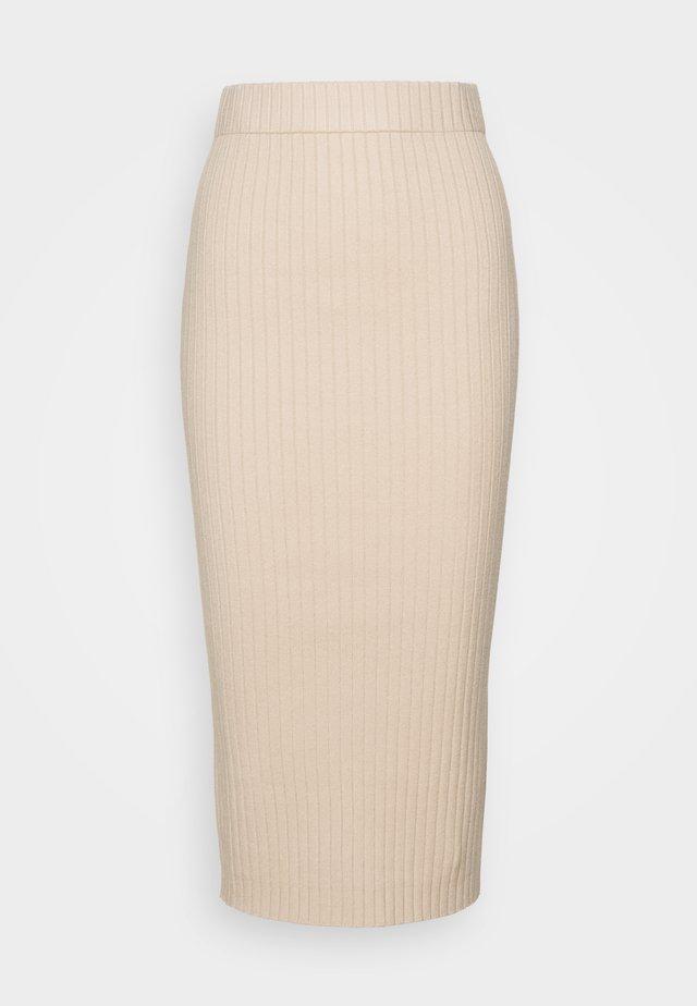 MIDI SKIRT - Pencil skirt - stone