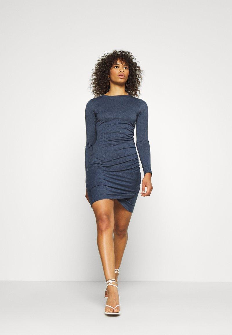 Glamorous Tall - WRAPOVER DRESS - Vestido ligero - melange navy