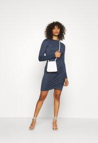 Glamorous Tall - WRAPOVER DRESS - Vestido ligero - melange navy - 1