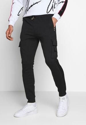 MORELLO CARGO JOGGERS - Pantalon de survêtement - black
