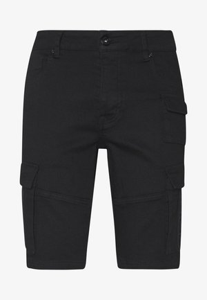 GLORIOUS GANGSTA ROGAN SKINNY - Szorty jeansowe - black