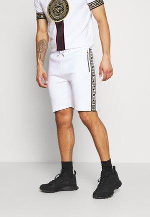 KALK - Teplákové kalhoty - white