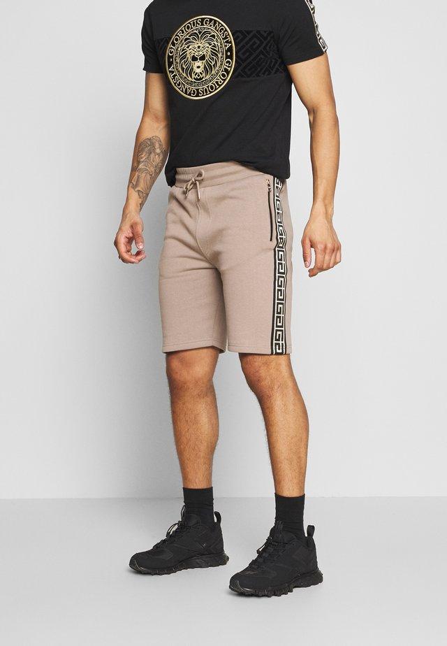 KALK - Teplákové kalhoty - sand