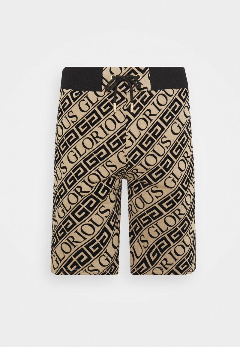 Glorious Gangsta - BANTU FLOCK PRINTED SHORT - Shorts - dark sand/black