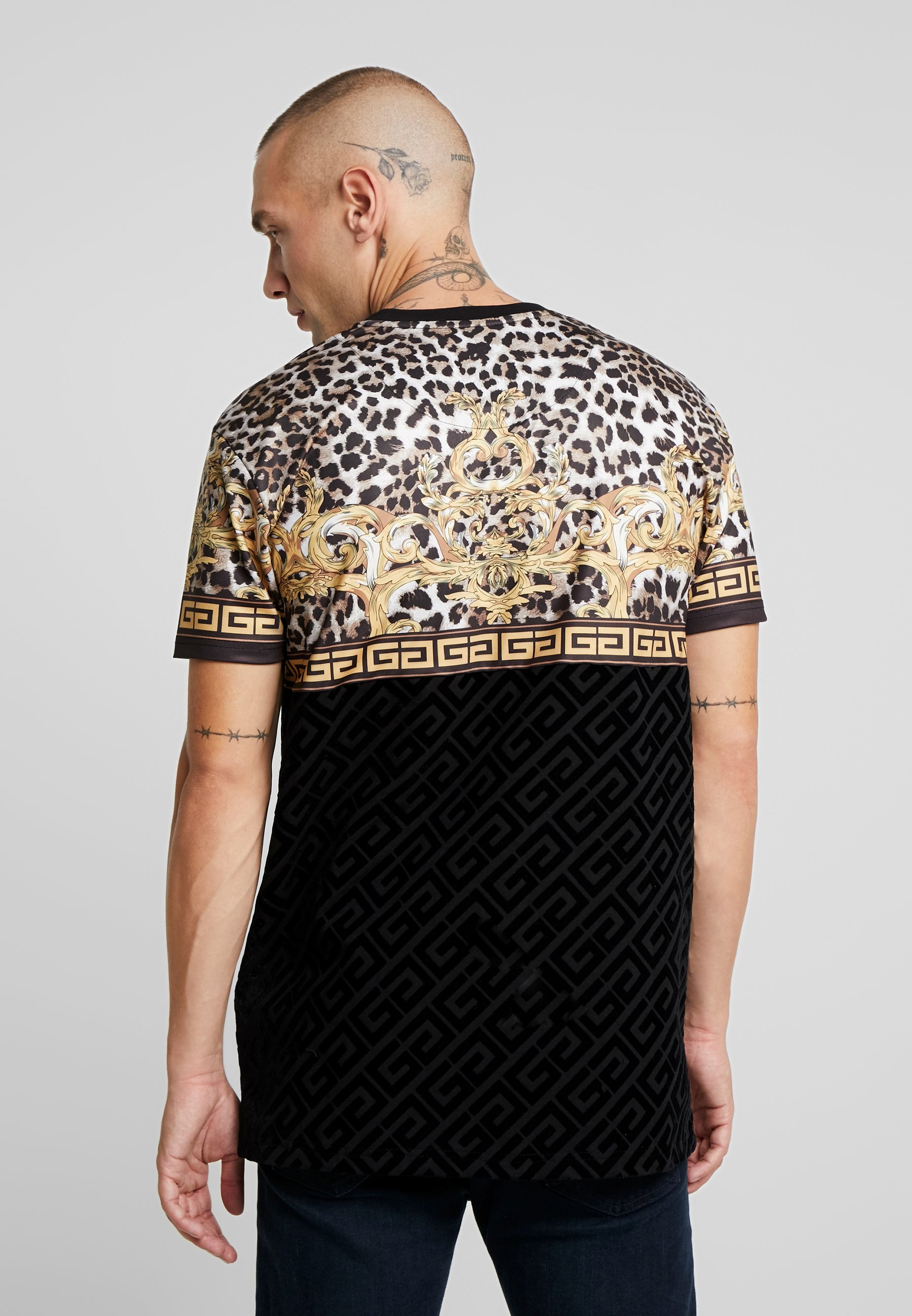 Marno PrintT Black Leopard Gangsta Glorious shirt Imprimé vmNn08w