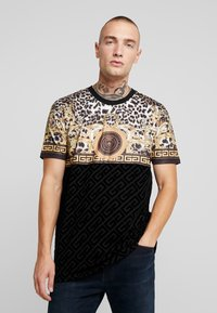 Glorious Gangsta - MARNO LEOPARD PRINT - T-shirt med print - black - 0