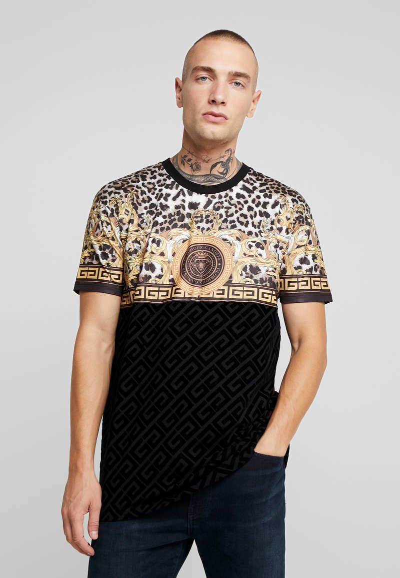 Glorious Gangsta - MARNO LEOPARD PRINT - T-shirt med print - black