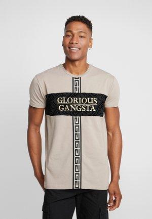 GLIMCO LOGO - T-shirt con stampa - dark sand
