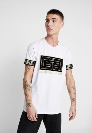 LANZA - T-shirt imprimé - white