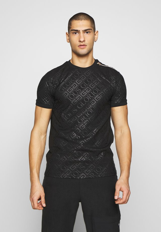 LINDEN BACK - T-shirt con stampa - black