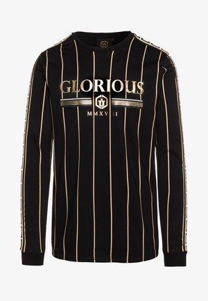 DERBAN LONGSLEEVE TEE - Bluzka z długim rękawem - black