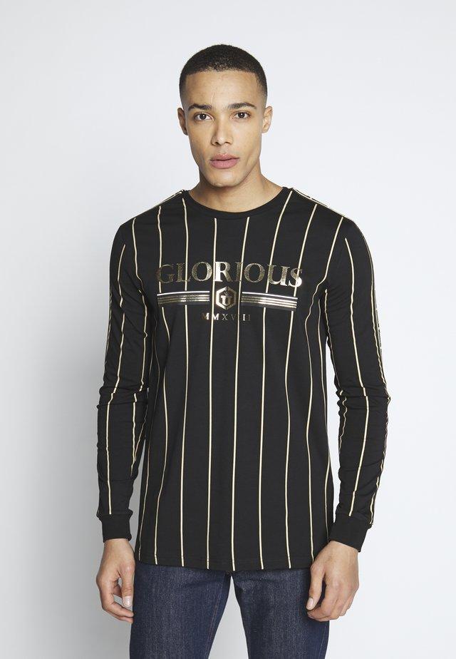 DERBAN LONGSLEEVE TEE - Langærmede T-shirts - black