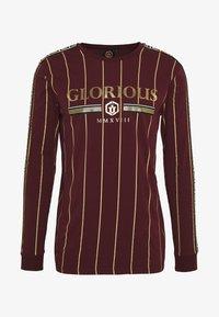 Glorious Gangsta - DERBAN LONG SLEEVE - Bluzka z długim rękawem - burgundy - 4