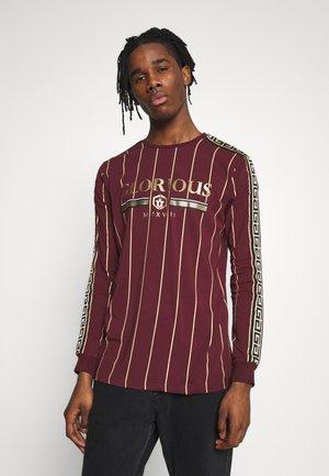 DERBAN LONG SLEEVE - Long sleeved top - burgundy