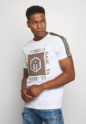 VASILI  - T-shirt z nadrukiem - white
