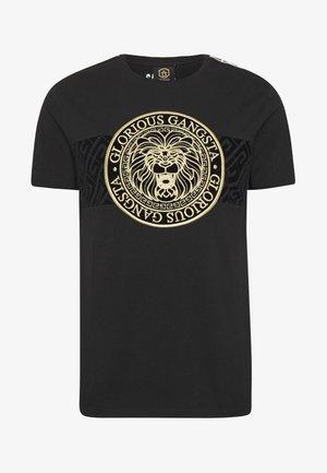DAPOLI - T-shirt imprimé - black