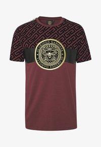 Glorious Gangsta - ELIAN - T-shirt z nadrukiem - burgundy - 3
