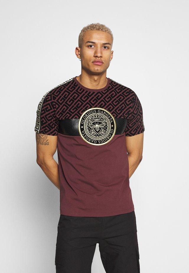 ELIAN - T-shirt med print - burgundy