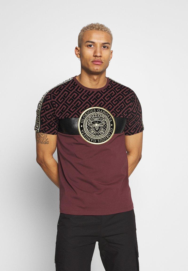 Glorious Gangsta - ELIAN - T-shirt z nadrukiem - burgundy