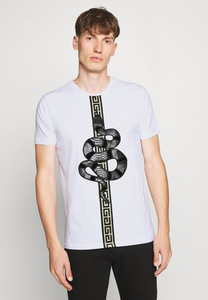 DEVANEY  - T-shirt z nadrukiem - white